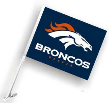 Denver Broncos Car Flags - 1 Pair