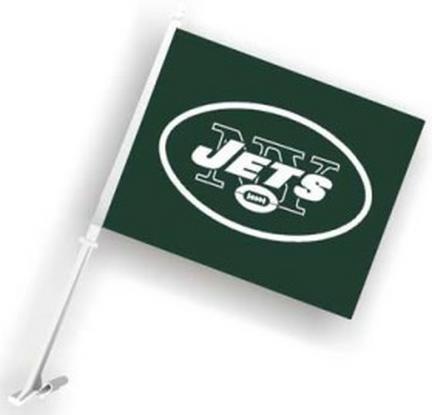 New York Jets Car Flags - 1 Pair