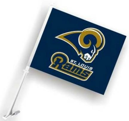 St. Louis Rams Car Flags - 1 Pair