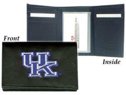 Kentucky Wildcats Embroidered Leather Tri-Fold Wallet