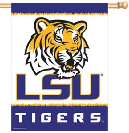 "Louisiana State (LSU) Tigers 27"""" x 37"""" Vertical Flag / Banner"" CD-3208500848"