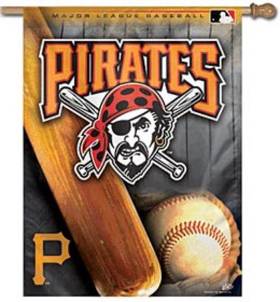"Pittsburgh Pirates 27"""" x 37"""" Vertical Flag / Banner"" CD-BAN123"