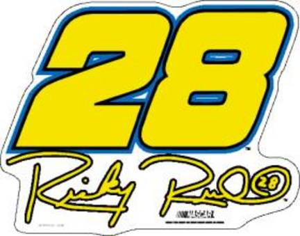 "Ricky Rudd #28 12"" Car Magnets - Set of 2"