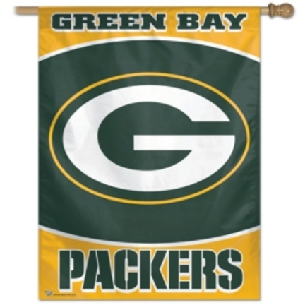 """Green Bay Packers 27"""""""" x 37"""""""" Vertical Flag / Banner from WinCraft"""" CD-BAN012"""