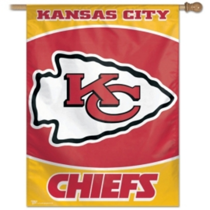 "Kansas City Chiefs 27"""" x 37"""" Vertical Flag / Banner from WinCraft"" CD-BAN015"
