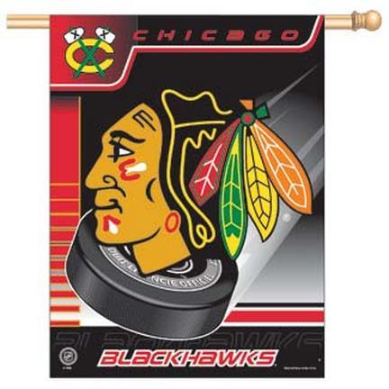 """Chicago Blackhawks 27"""""""" x 37"""""""" Vertical Flag / Banner"""" CD-3208500455"""