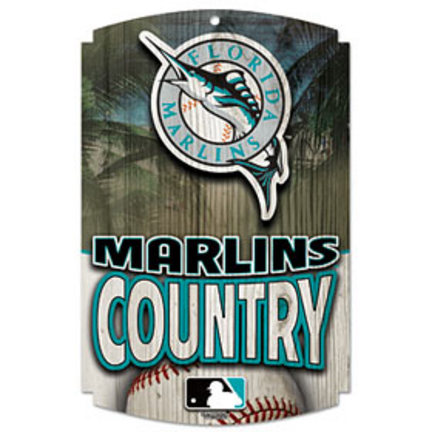Florida Marlins Wood Sign