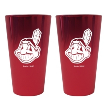 Cleveland Indians Lusterware 16 oz. Pint Glasses - Set of 2