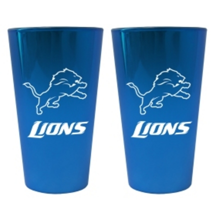 Detroit Lions Lusterware 16 oz. Pint Glasses - Set of 2