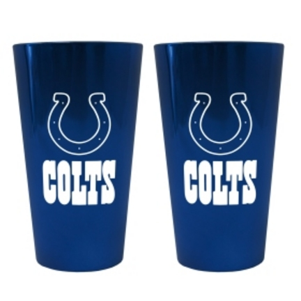Indianapolis Colts Lusterware 16 oz. Pint Glasses - Set of 2 CD-4245103526