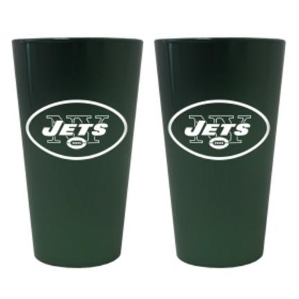 New York Jets Lusterware 16 oz. Pint Glasses - Set of 2 CD-4245103534