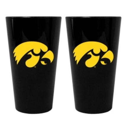 Iowa Hawkeyes Lusterware 16 oz. Pint Glasses - Set of 2