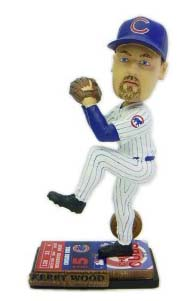 Kerry Wood #34 Chicago Cubs Ticket Base Bobble Head Doll from Forever Collectibles