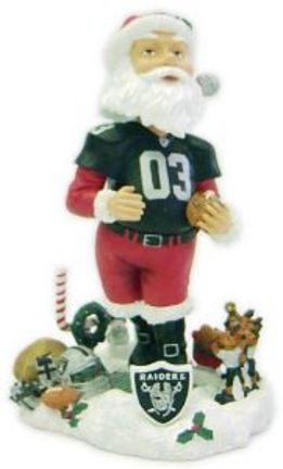 Oakland Raiders Santa Claus Bobble Head Doll from Forever Collectibles
