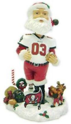 Tampa Bay Buccaneers Santa Claus Bobble Head Doll from Forever Collectibles