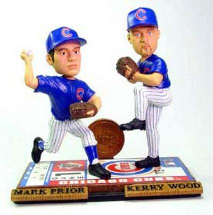 Kerry Wood and Mark Prior Chicago Cubs Limited Edition Alternate Bobble Mate Bobble Head Doll from Forever Collectibles