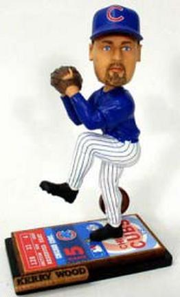 Kerry Wood Chicago Cubs Limited Edition Alternate Ticket Base Bobble Head Doll from Forever Collectibles