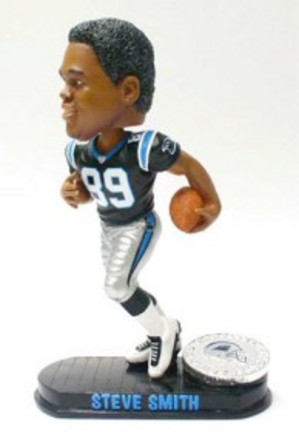 Steve Smith Carolina Panthers Black Base Edition Bobble Head Doll from Forever Collectibles CD-8132936195