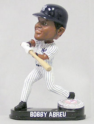 Bobby Abreu New York Yankees Limited Edition Platinum Bobble Head Doll from Forever Collectibles CD-8132943201