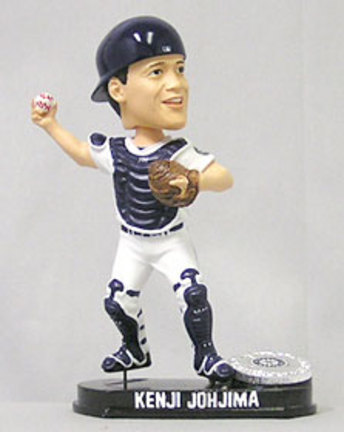 Kenji Jojhima Seattle Mariners Limited Edition Platinum Bobble Head Doll from Forever Collectibles CD-8132943208