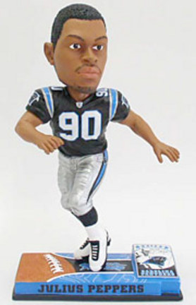 Julius Peppers Carolina Panthers On Field Bobble Head Doll from Forever Collectibles