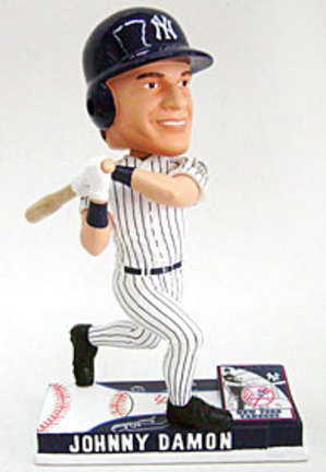Johnny Damon New York Yankees On Field Bobble Head Doll from Forever Collectibles CD-8132970388