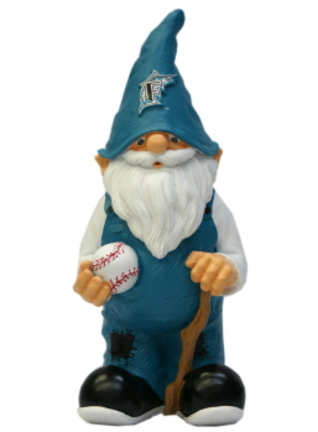 """Florida Marlins 11"""" Male Garden Gnome"""
