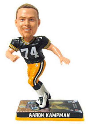 Aaron Kampman Green Bay Packers Photo Base Bobble Head Doll from Forever Collectibles