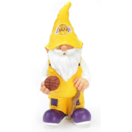 """Los Angeles Lakers 11"""" Male Garden Gnome"""