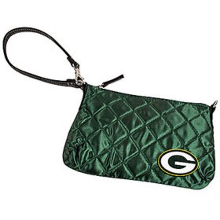 Green Bay Packers Quilted Wristlet Purse (CD-8669906178 8669906178 Little Earth) photo