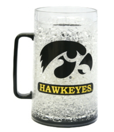 Iowa Hawkeyes Plastic Crystal Monster Freezer Mug