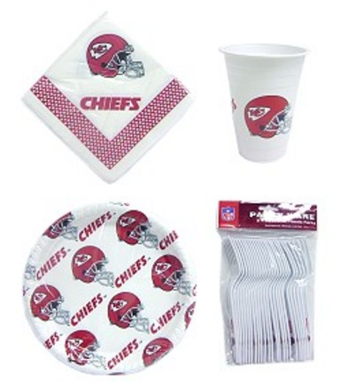 Kansas City Chiefs Tailgate Party Pack Utensil Set CD-USNFL-KCC
