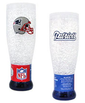 New England Patriots Plastic Crystal Pilsners - Set of 2