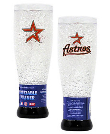 Houston Astros Plastic Crystal Pilsners - Set of 2