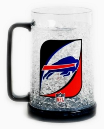 Buffalo Bills Plastic Crystal Freezer Mugs - Set of 4