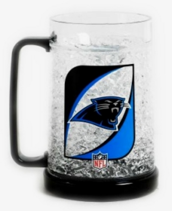Carolina Panthers Plastic Crystal Freezer Mugs - Set of 4