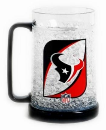 Houston Texans Plastic Crystal Freezer Mugs - Set of 4