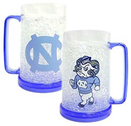 North Carolina Tar Heels Plastic Crystal Freezer Mugs - Set of 4