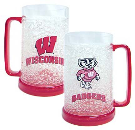 Wisconsin Badgers Plastic Crystal Freezer Mugs - Set of 4