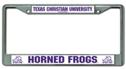 Texas Christian Horned Frogs Chrome License Plate Frames - Set of 2 CD-9474622179