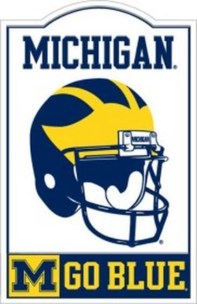 Michigan Wolverines Nostalgic Metal Sign from Riddell