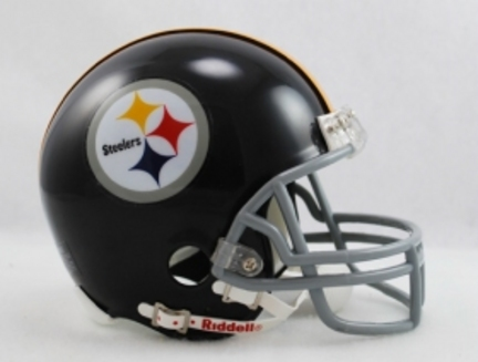 Pittsburgh Steelers 1963-1976  Riddell Replica Mini Throwback Football Helmet with Z2B Face Mask
