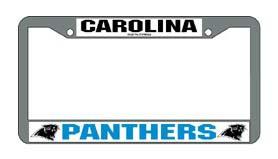 Carolina | Panther | License | Chrome | Frame | Plate | Set