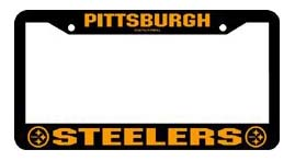 Pittsburgh Steelers Black Chrome License Plate Frame - Set of 2
