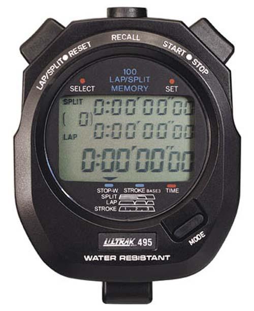 Ultrak 495 100 Lap Memory Professional Stopwatch
