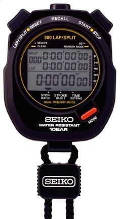300 Lap Memory Seiko Stopwatch for Aquatic Sports