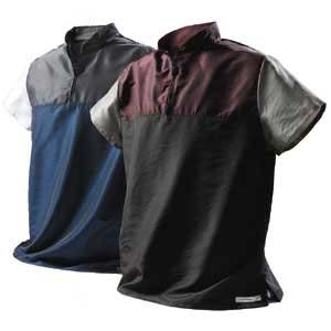 Catalyst Adrenaline Wave Top / Shirt (Cosmic Blue with Silver & White Trim Adult Small)