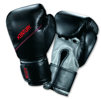Youth Boxing Gloves with Diamond Tech™ from Century (Black/Red)