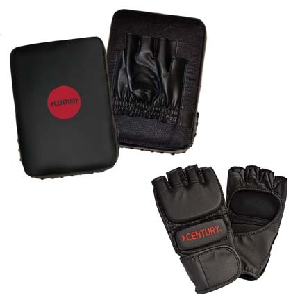 Parent and Child MMA Hand Target and Youth Gloves Training Combination Set from Century