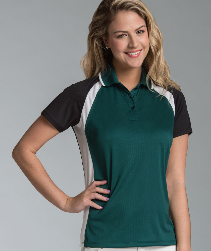 Women's Ares Button Wicking Polo Shirt from Charles River Apparel